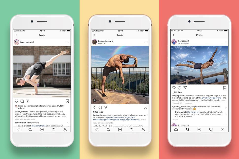 Men in Yoga Instagrammers