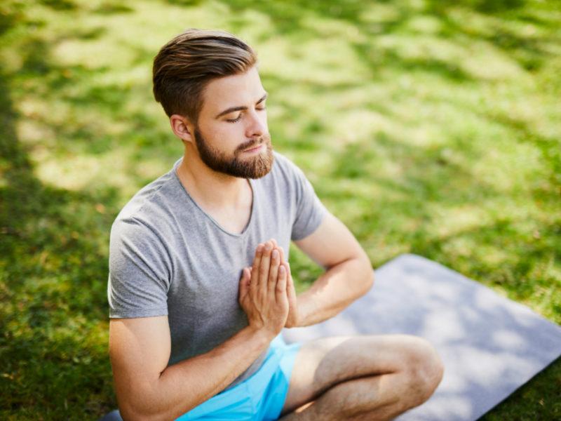 Men in yoga