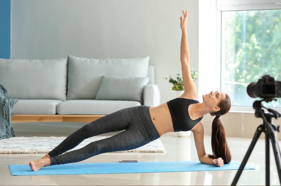 live streamed yoga class